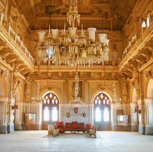 The inside view of aina mahal shows royal living of kings
